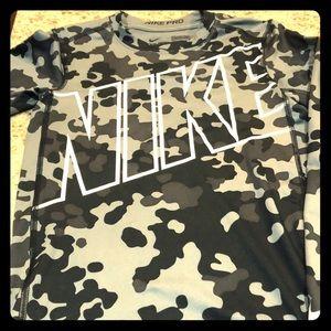 Nike boys camo compression shirt